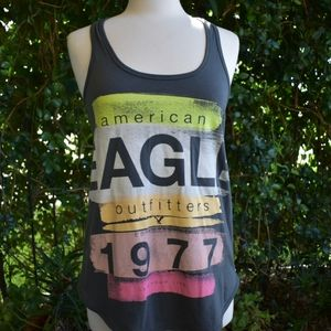 American Eagle Outfitters racer back graphic tee